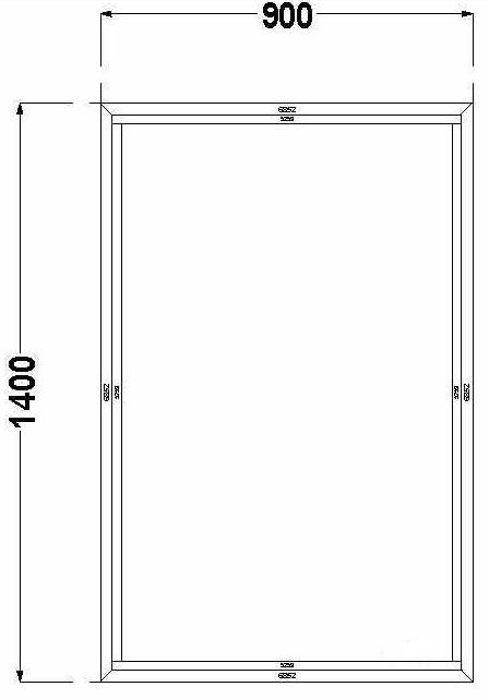 Алюминиевое окно (глухое) AGS 68