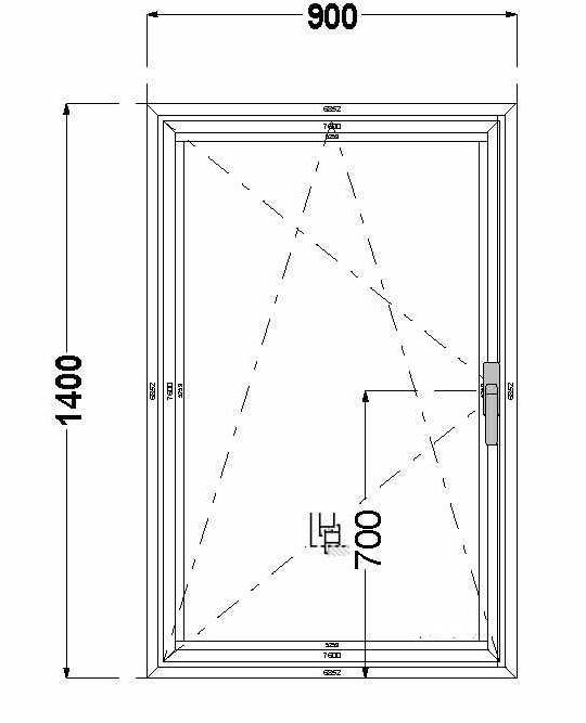 Алюминиевое окно (поворотно-откидное) AGS 68