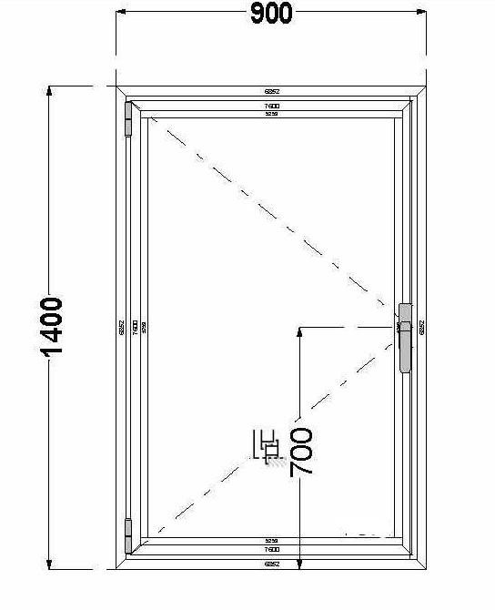 Алюминиевое окно (поворотное) AGS 68